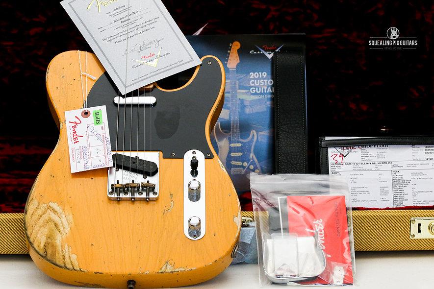"FENDER USA 52 Custom Shop Heavy Relic Telecaster ""Butter-Scotch Blonde + Maple"""