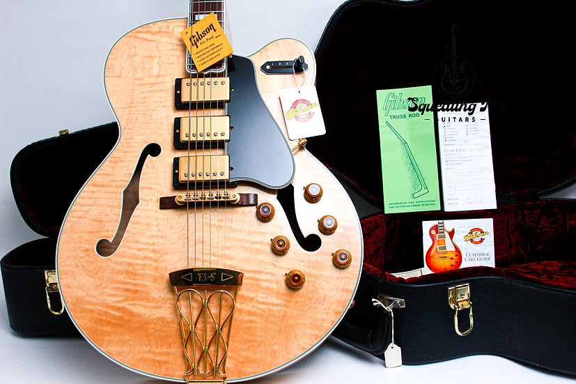 """GIBSON USA Custom Shop Historic Semi Hollow ES-5 Switch-master """"Natural + Rosewo"""