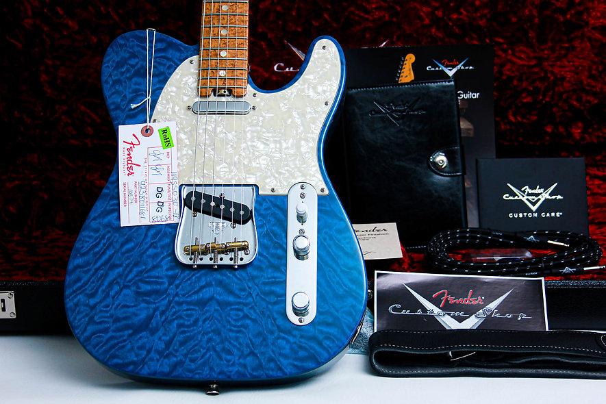 "FENDER USA Custom Shop Elite Telecaster QMT *Prototype ""Sapphire blue+ Birds-eye"