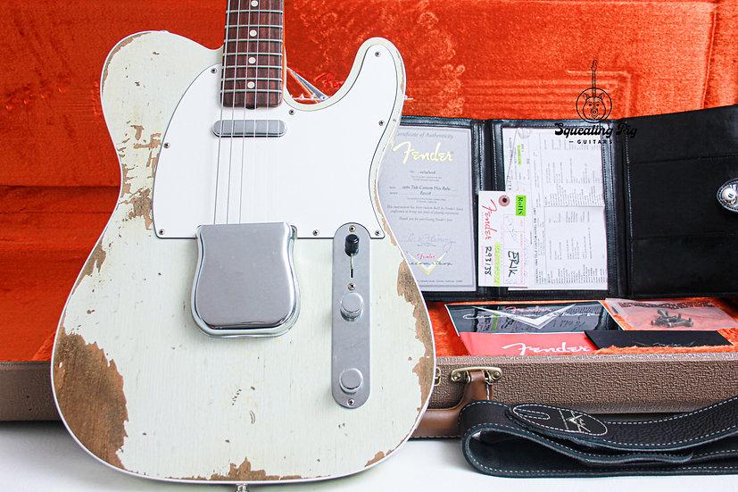 FENDER USA Custom Shop 1960's Heavy Relic Telecaster Custom Olympic White