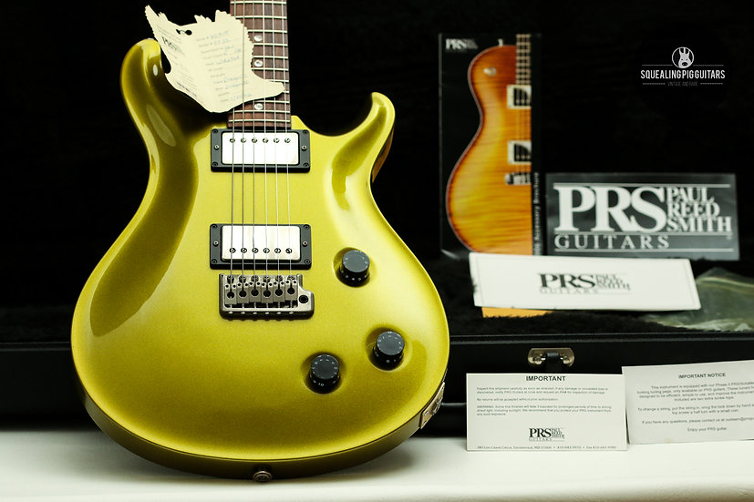 "PRS USA Paul Reed Smith Standard 22 "" Metallic Chartreuse +Rosewood "" (2002)."