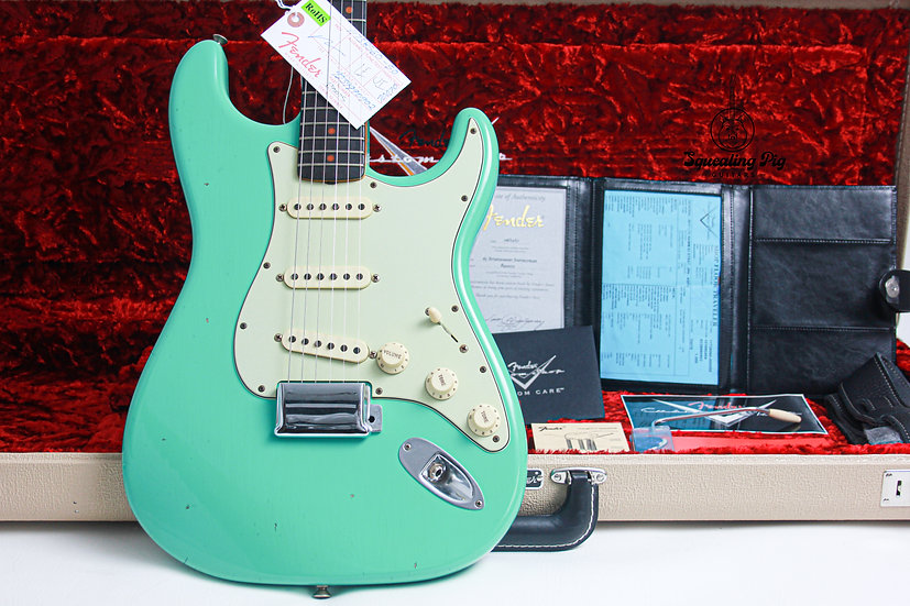 "FENDER USA Custom Shop NAMM 1963 Reissue Stratocaster Journeyman Relic ""Seafoam"