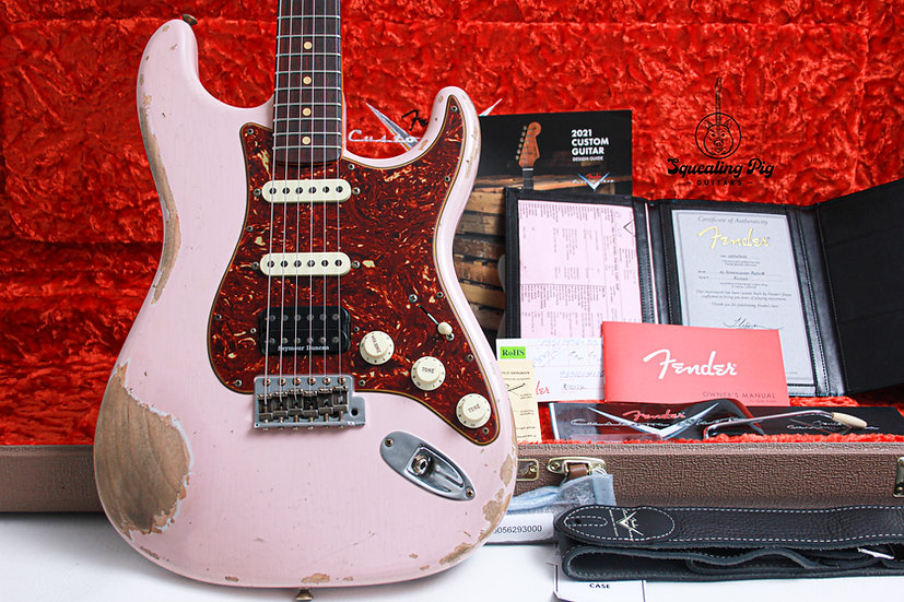 """FENDER USA Custom Shop 1962 Heavy Relic HSS Stratocaster """"Shell Pink + Rosewood"""""""
