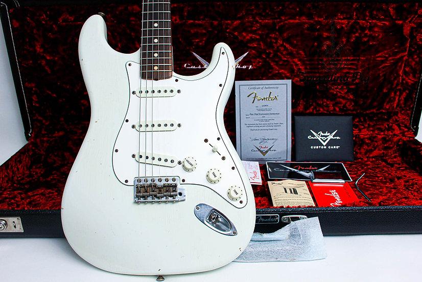"FENDER USA Custom Shop Stratocaster 60's Postmodern Relic ""Olympic White + Rosew"
