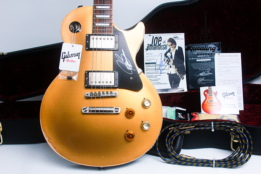 "GIBSON USA Les Paul Custom Shop 57 Aged Joe Bonamassa ""Goldtop + Rosewood""(2009)"