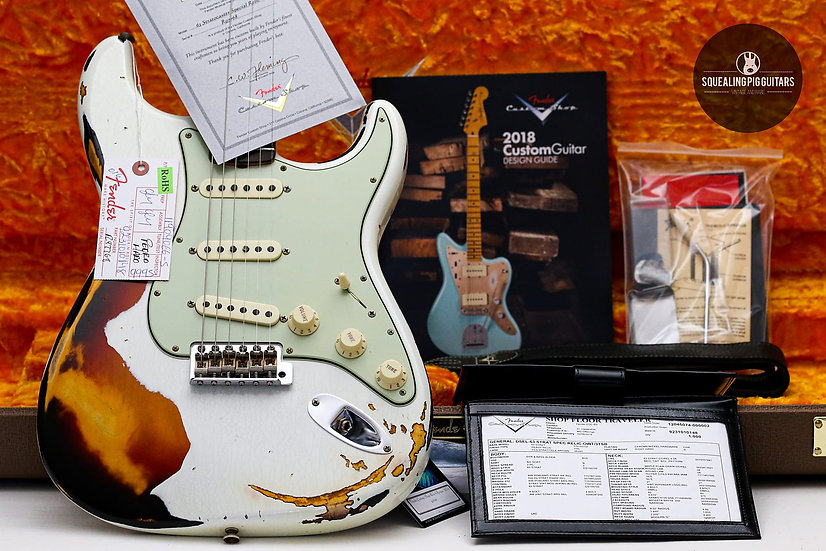 "FENDER USA Custom Shop 1963 Special Relic ""Olympic White/Three tone + Rosewood"""
