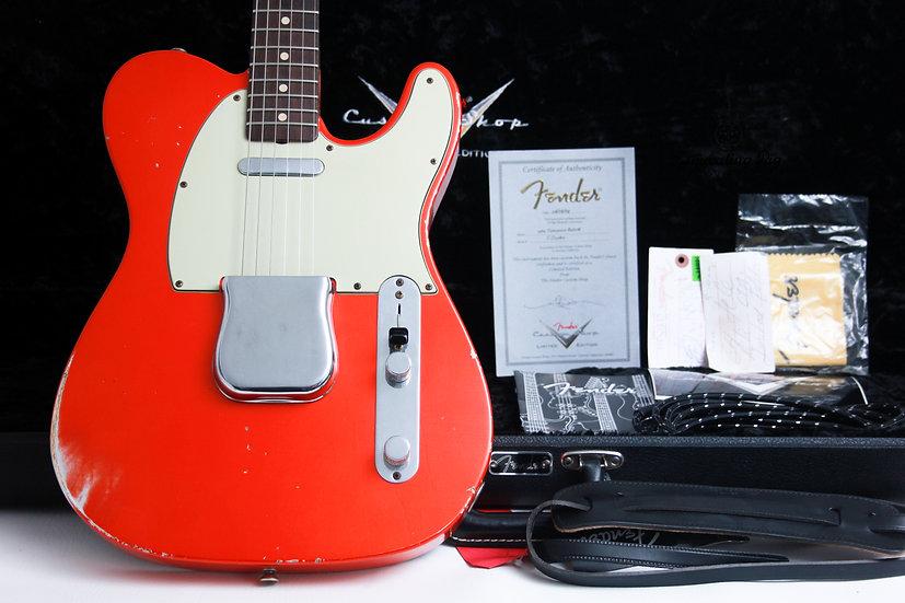 "FENDER USA Custom Shop Telecaster 1964 LTD Relic ""Candy Tangerine + Rosewood"" (2"