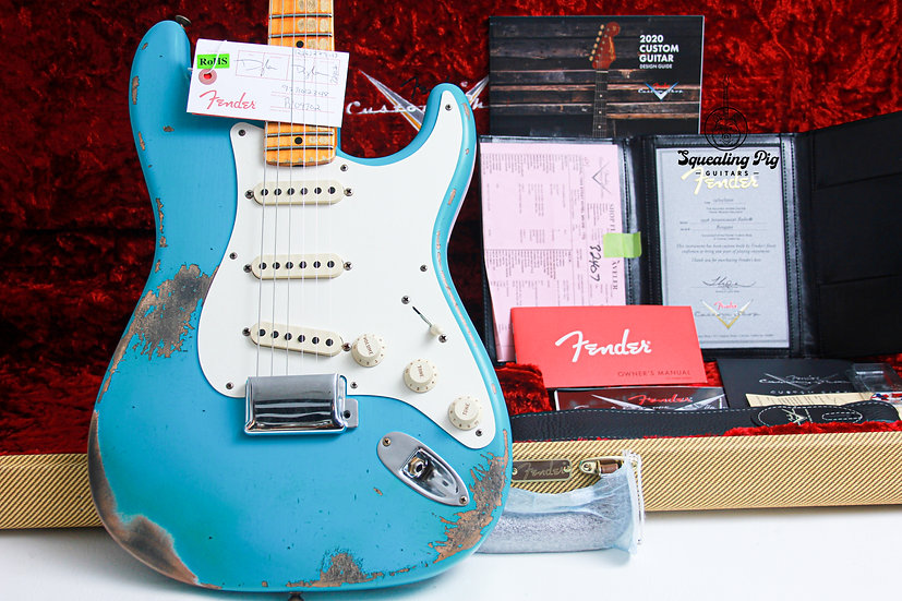 "FENDER USA Custom Shop 1956 Heavy Relic Stratocaster ""Taos Turquoise + Maple"""