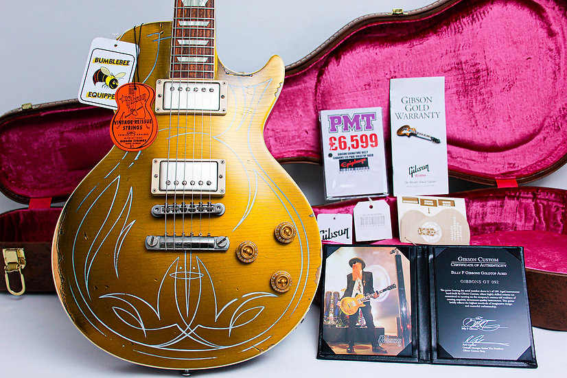 "GIBSON USA Les Paul Custom Shop Aged Billy Gibbons #092 ""Gold Pinstripe"" (2013)"