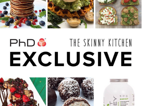 Skinny Kitchen and PhD lean whey protein