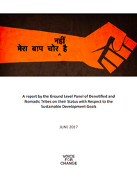 A report by the Ground Level Panel of Denotified and Nomadic Tribes on their Status with Respect to the Sustainable Development Goals (2017)