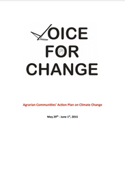 Voice for Change: Agrarian Communities' Action Plan on Climate Change (2015)