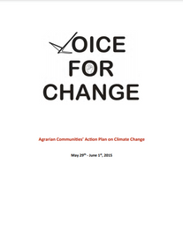 Agrarian Communities' Action Plan on Climate Change (2015)