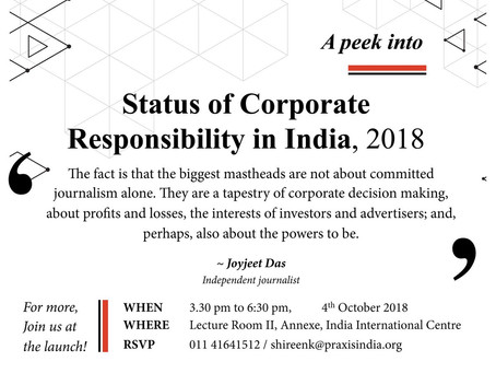 Status of Corporate Responsibility in India 2018