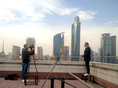 Dreharbeiten in Schanghai