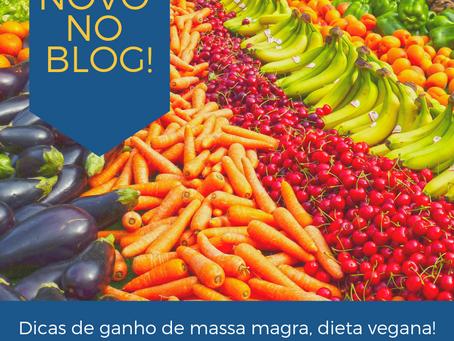 Dicas de recuperação e ganho de massa magra, dietas vegetarianas