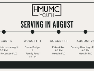 August is Service Month for Youth