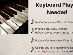 Our Contemporary Service Band Needs a Keyboard Player