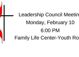 Leadership Council Meeting