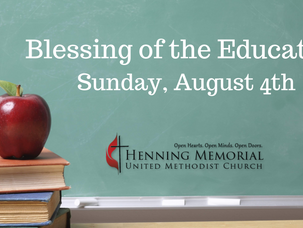 Blessing of the Educators
