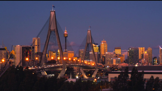 Anzac Bridge Time Lapse