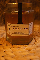 Handmade in Devon, made on the farm exclusiveto knights Farm Shop. Chilli & Apple Jelly