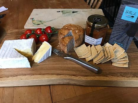 Farm Shop platter, cheese board, crackers