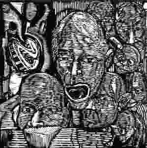 Doug Arana graf writer in his earliest adventures into linocutting