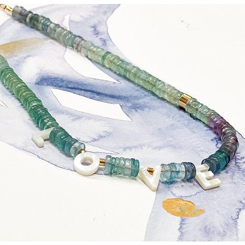 Fluorite LOVE Necklace T3