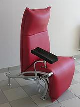 sellerie médicale.sellerie fauteuil de prélèvement médical. olivia ropert.la couture des possibles