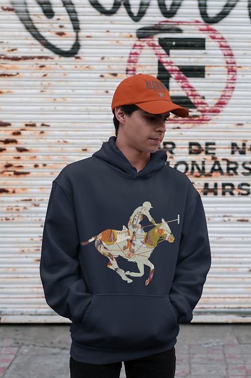 Polo Horse Tapestry Design Hoodie