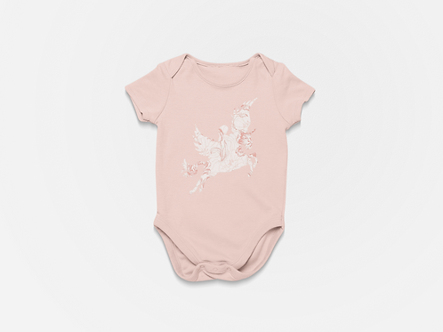 Floral Etty in Flight Onesie