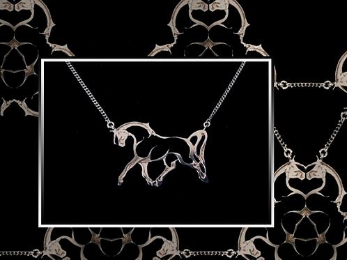 Silver Open Horse Necklet
