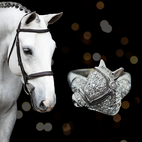 18ct Diamond Horse Head Ring