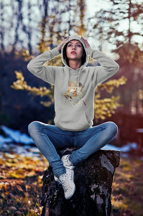 Polo Tapestry Hoodie Heather Grey Colour