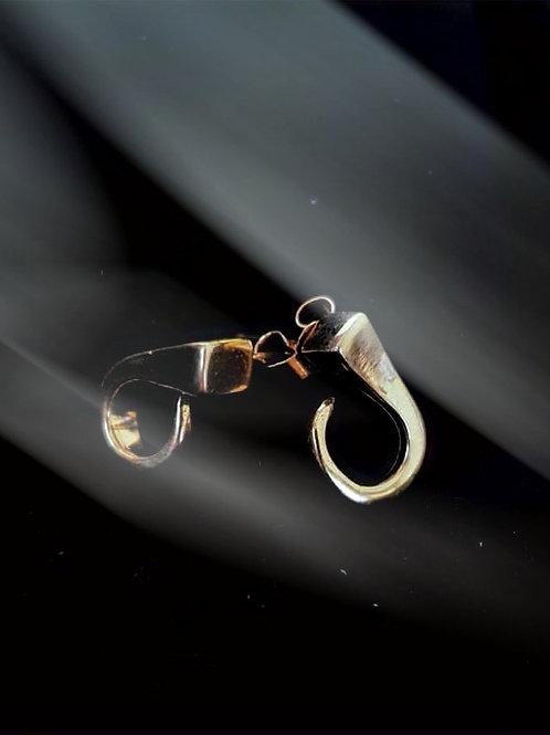 Gold Farrier Nail Stud Earrings
