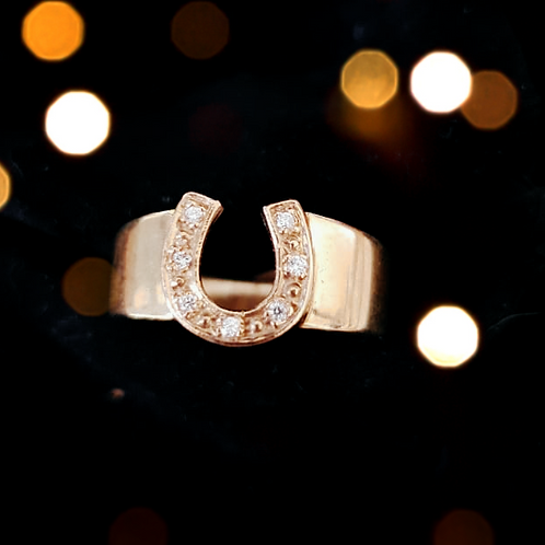 Horseshoe Ring with Diamonds