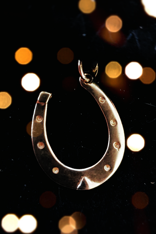 Gold Horseshoe Pendant
