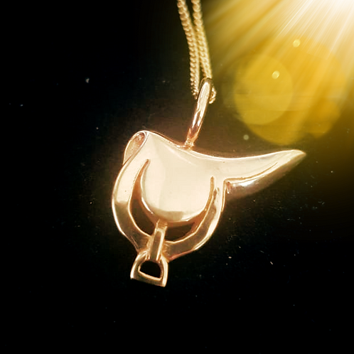 Gold Saddle Necklace