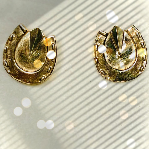 Gold Hoof Earrings