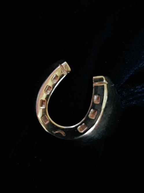 Large Gold Horseshoe Ring
