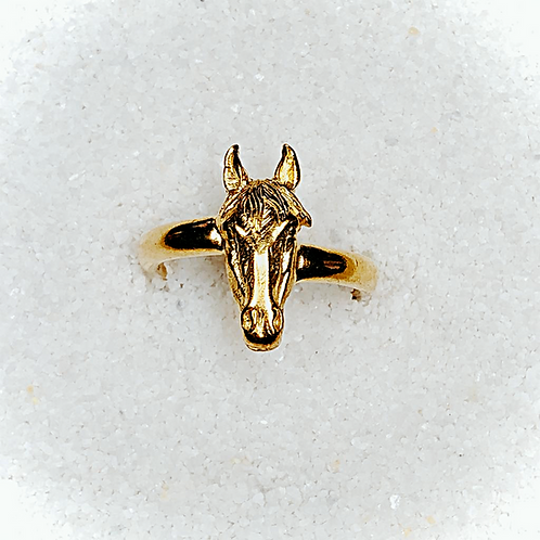 Gold Horse Head Ring