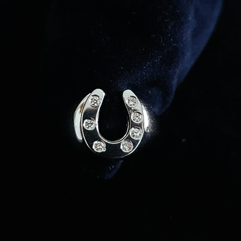 White Gold Diamond Set Horseshoe Ring