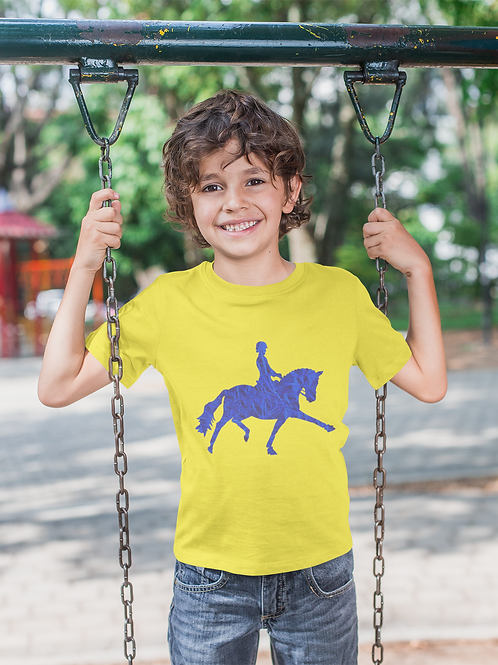 Blue Marble Horse T-Shirt