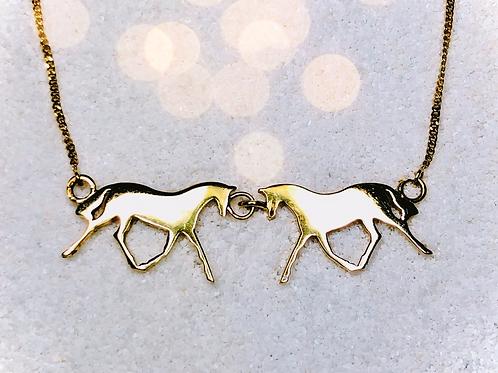 Double Horse Necklace