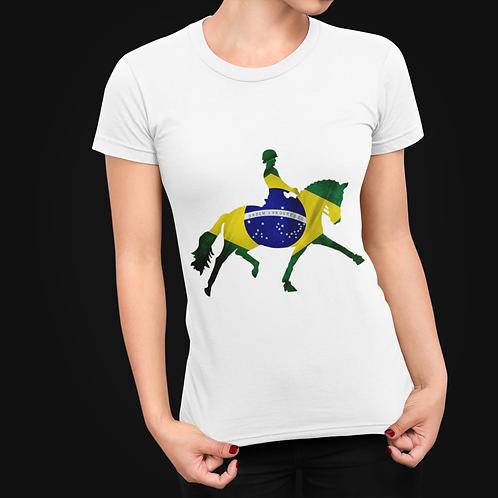 Dressage Horse T-Shirt  -  Brazilian Flag