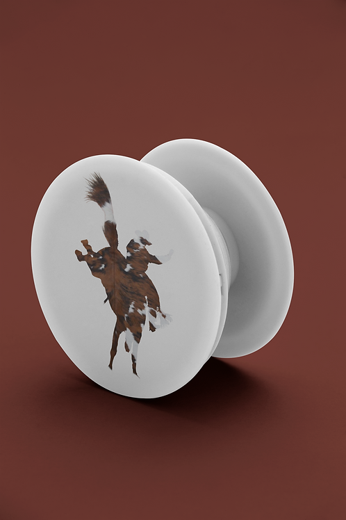 Cowhide Rodeo Pop Grip