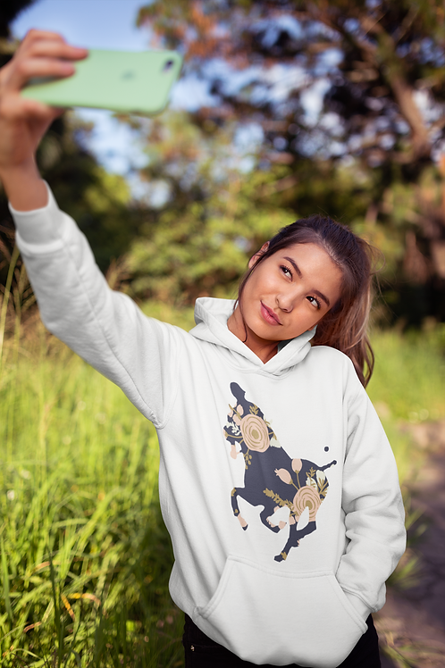 Floral Polo Horse Hoodie
