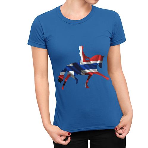 Dressage Horse Unisex T-Shirt - Norwegian Flag