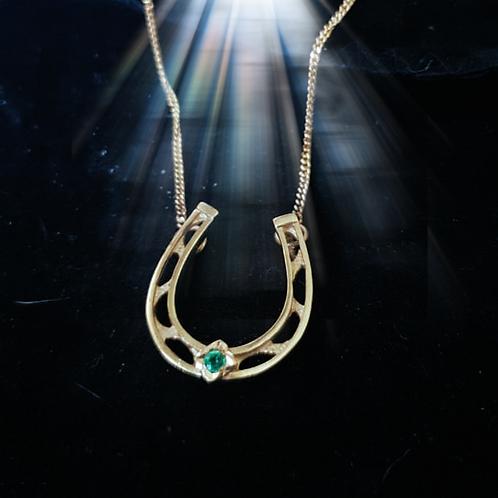 Emerald Horseshoe Necklace